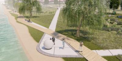 Сквер на Шуваловском проспекте и реке Глухарке, проект