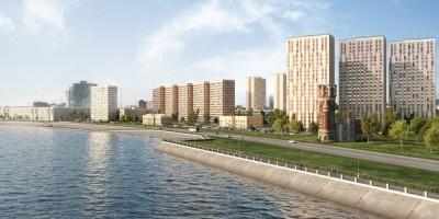 Жилой комплекс на углу проспекта Большевиков и Октябрьской набережной