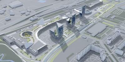 Балканская площадь, проект офисных зданий, вид сверху