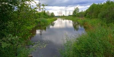 Колпино, пруд на месте выемки железной дороги