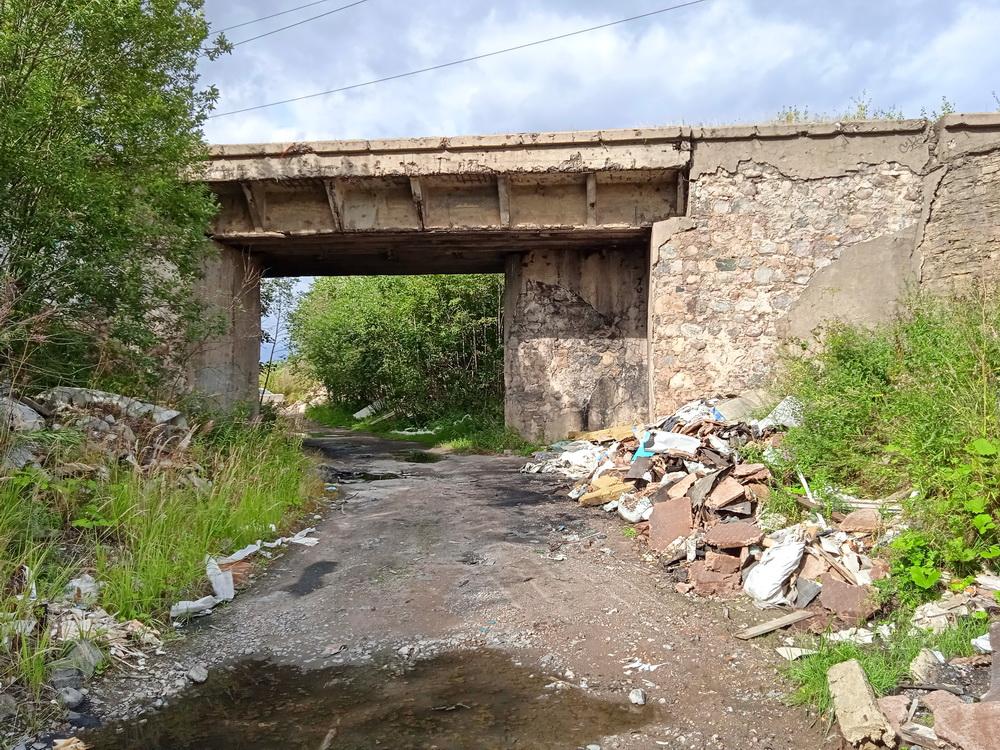 Колпино, железнодорожный путепровод