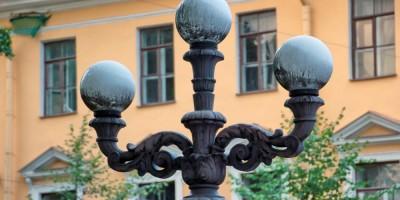 Лермонтовский сквер, фонарь, канделябр