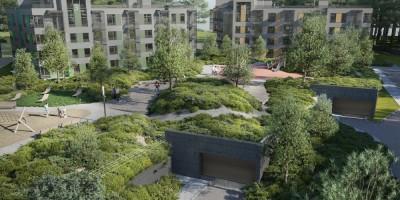 Репино, проект санаторно-курортного комплекса, двор