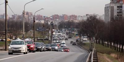 Проспект Маршала Жукова, вид с Лиговского путепровода