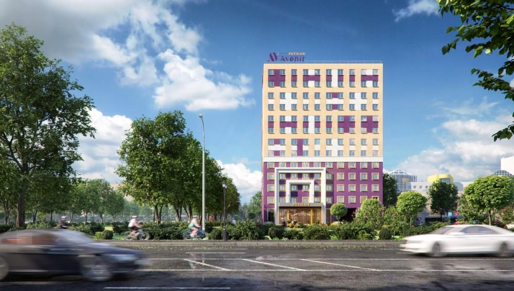 Проспект Стачек, 64, проект апарт-отеля, старая версия
